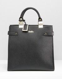 Структурированная сумка‑тоут с металлическими шарнирами Faith - Черный
