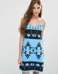 Платье-сорочка на бретельках Your Eyes Lie - Неоновый