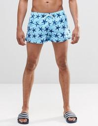 Короткие шорты с принтом морская звезда Swells - Синий