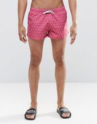 Короткие шорты в горошек Swells - Розовый