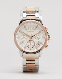 Двухцветные часы с хронографом Armani Exchange AX4331 - Серебряный