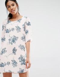 Платье-туника с принтом Love - Мульти