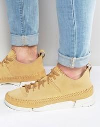 Замшевые кроссовки Clarks Originals Trigenic - Бежевый