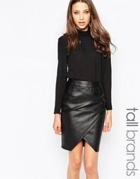 Блузка с высоким воротником Y.A.S Tall - Черный