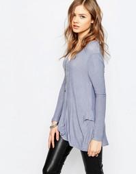 Блузка Free People Miss Rose - Сине-серый