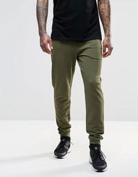 Спортивные штаны скинни цвета хаки с молниями ASOS