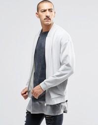 Серая меланжевая куртка-пилот с квадратным вырезом ASOS - Серый меланж