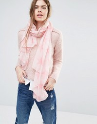 Шарф с розовыми звездами Becksondergaard - Розовый