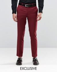 Бордовые брюки скинни Farah - Burgundy