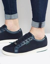 Замшевые кроссовки Ted Baker Owenn - Темно-синий
