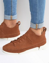 Замшевые кроссовки Clarks Originals Trigenic - Коричневый