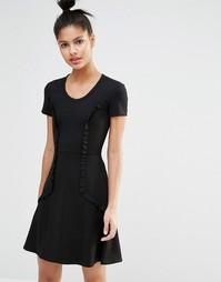 Приталенное платье со свободной юбкой Sonia By Sonia Rykiel - Черный