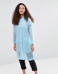 Голубой полупрозрачный дождевик YMC - Нежно-голубой