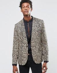 Облегающий блейзер с леопардовым принтом Religion - Рыжий