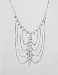 Драпированное ожерелье с кристаллами Swarovski от Krystal - Crystal
