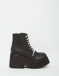 Черные ботинки со шнурками UNIF Ryder - Черный