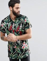 Гавайская рубашка с короткими рукавами и принтом попугай Religion