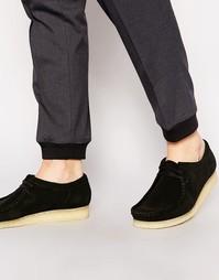 Замшевые туфли Clarks Originals Wallabee - Черный