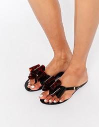 Шлепанцы с двойными бантиками Melissa Harmonic - Черный