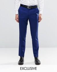 Синие брюки зауженного кроя Farah - Насыщенно-голубой