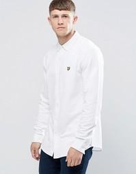 Рубашка из хлопкового пике Lyle & Scott - Белый
