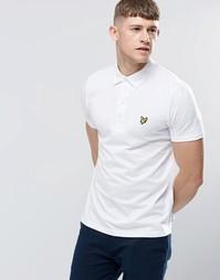 Белая футболка-поло с тканым воротником Lyle & Scott - Белый