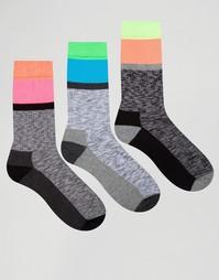 Набор из 3 пар спортивных носков ASOS - Серый