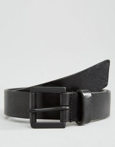 Черный кожаный ремень Royal RepubliQ Coil Parc - Черный