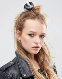 Резинка для волос ограниченной серии с помпоном - Мульти Asos