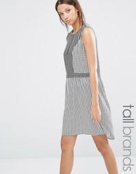 Платье в клетку Y.A.S Tall Malou