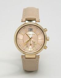 Часы с кожаным ремешком Michael Kors Sawyer MK2529 - Розовый
