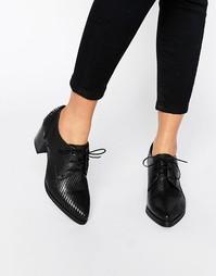 Туфли на каблуке со шнуровкой Bronx Lizard - Черный