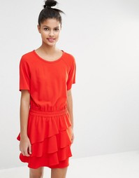 Платье с оборками на юбке Sonia By Sonia Rykiel - Красный
