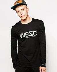 Лонгслив с логотипом WeSC - Черный