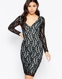Платье-футляр с кружевным слоем Amy Childs Charlize