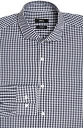 Приталенная сорочка в клетку HUGO BOSS Black Label