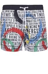 Плавки-шорты с контрастным принтом Dirk Bikkembergs