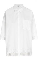 Блуза прямого кроя с перфорацией и удлиненным рукавом Gerard Darel