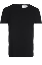 Полупрозрачный топ прямого кроя с круглым вырезом HUGO BOSS Black Label