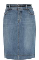 Джинсовая юбка-карандаш с карманами HUGO BOSS Black Label