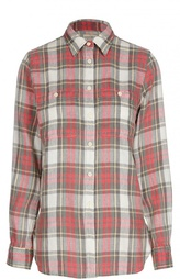Блуза прямого кроя в клетку в накладными карманами Denim&Supply by Ralph Lauren