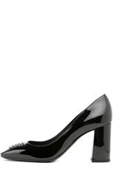 Лаковые туфли на устойчивом каблуке Bottega Veneta