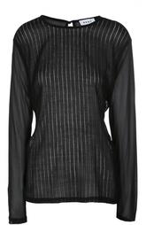 Полупрозрачный пуловер с фактурной отделкой DKNY