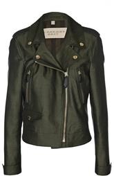 Укороченная куртка с косой молнией Burberry Brit