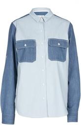 Джинсовая блуза прямого кроя с накладными карманами Rag&Bone Rag&;Bone