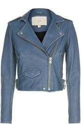 Кожаная куртка с потертостями и косой молнией Iro