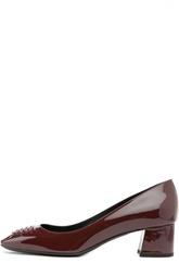 Лаковые туфли на низком каблуке Bottega Veneta
