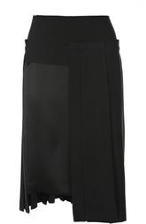 Плиссированная юбка асимметричного кроя DKNY