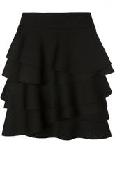 Многоярусная мини-юбка с воланами DKNY