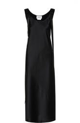 Платье-макси в клетку с декоративными лентами DKNY